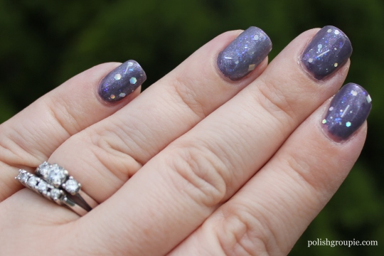 Pahlish Your Silver Lining over Zoya Lotus