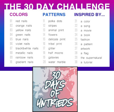 30-Day Challenge, 30 Days of Untrieds