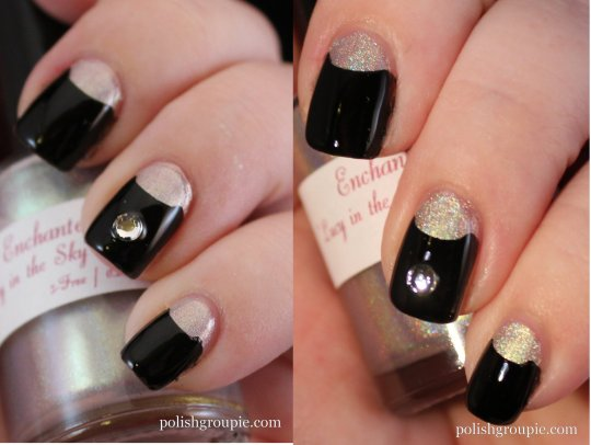 Half Moon Manicure with Enchanted Polish Lucy In The Sky With Diamonds