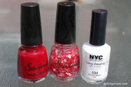 Savina Ruby, Savina Hearts, NYC French White Tip
