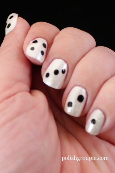 Dice Manicure With A-England Morgan Le Fay