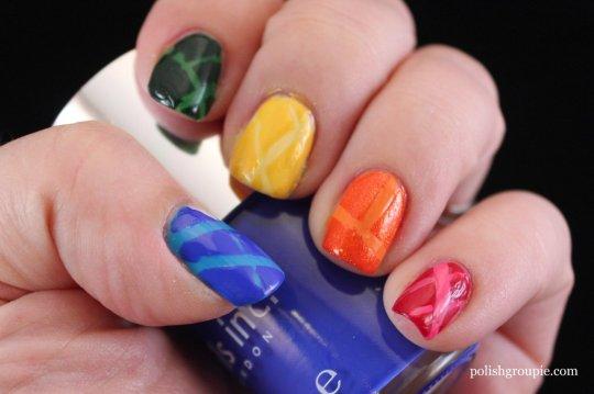 Rainbow Laser Tape Manicure