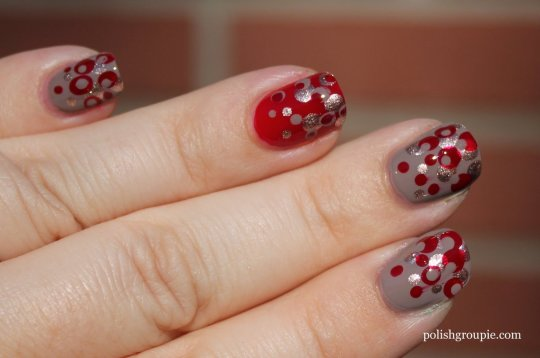 Gradient Dot Manicure: OPI Berlin There Done That with Sinful Colors Ruby Ruby