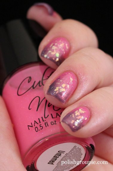 Gradient manicure: Cult Nails Untamed with Zoya Lotus and China Glaze Luxe And Lush