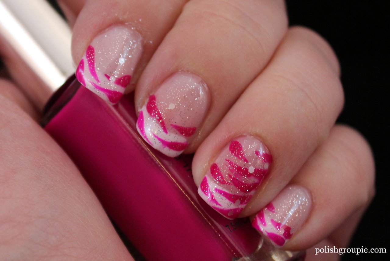 30 Day Challenge Day 13 – Animal Print: Zebra French Manicure ...