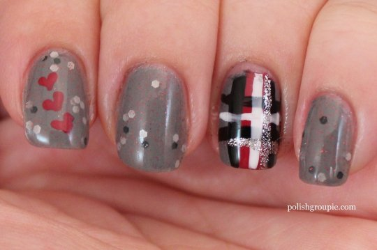 Pretty & Polished Private School plaid nail art