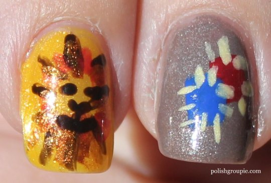 Cowardly Lion, Scarecrow Wizard Of Oz Nail Art