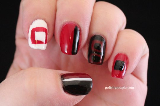 Storm Warning Flag Nail Art