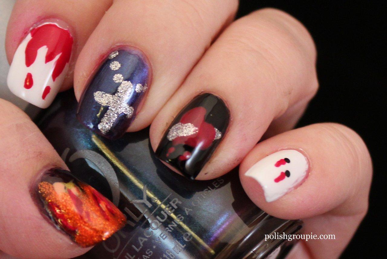 30 Day Challenge Day 29 Supernatural Vampire Nail Art Polish