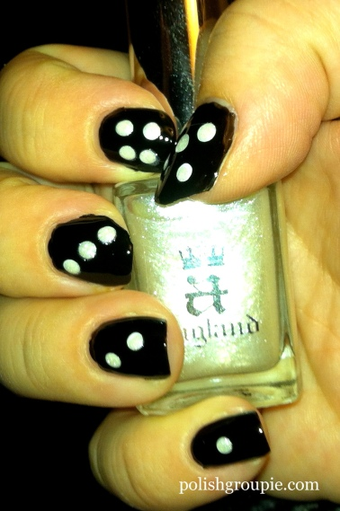 Dice nail art with A-England Morgan Le Fay