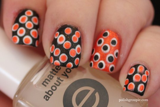 Halloween Dotticure Dotting Nail Art with China Glaze Riveting
