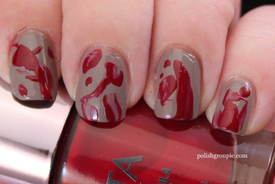 Halloween Nail Art: Blood Smears