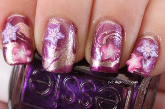 Halloween Water Marble Magic Witch Nail Art