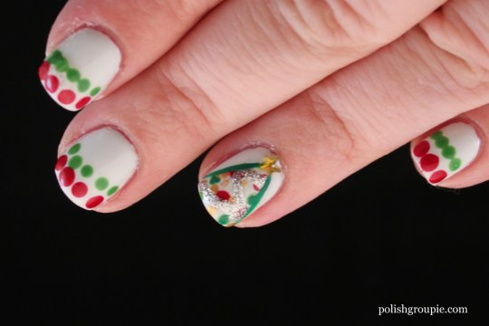 Christmas Nail Art: Christmas Trees