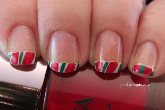 Candy Cane French Tips