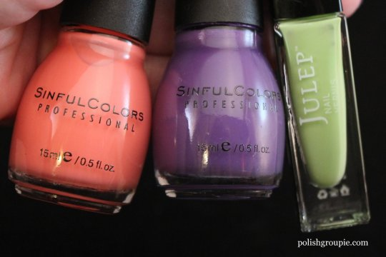 Sinful Colors Island Coral, Amethyst, Juelp Courteney