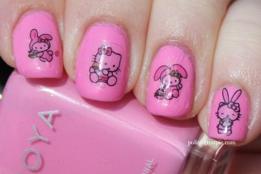 Zoya Sweet with Hello Kitty Easter Water Decals